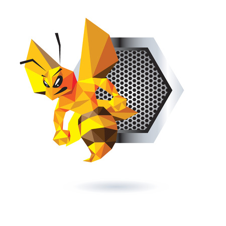 Bee Mascot Design. AI 10 Supported. Illustration