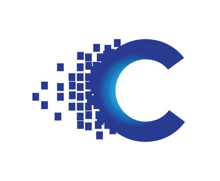Tecnología Digital Logo Concept. AI 10 compatible.