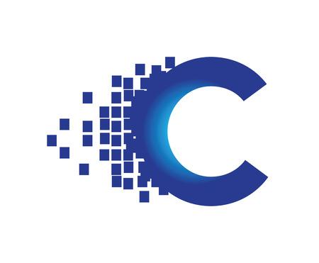 redes electricas: Tecnología Digital Logo Concept. AI 10 compatible. Vectores