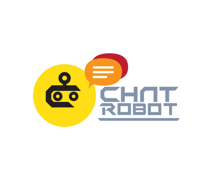 Chat Robot Logo Design Concept. AI 10 Supported. Illustration