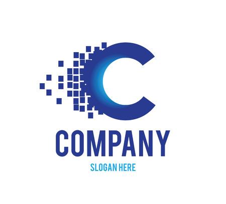Digital Technology Logo de Concept. AI 10 pris en charge.
