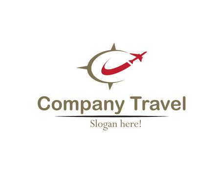Logotipo elegante concepto de viajes de empresa.