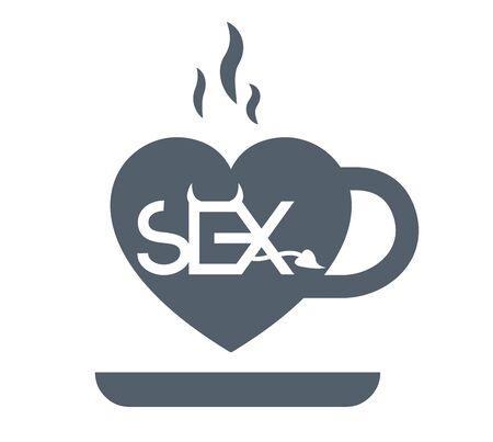 Coffee and Sex Concept Design. Illustration