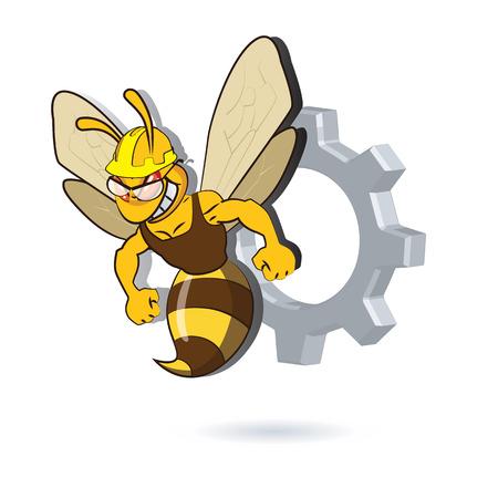 Bee Mascot Design. AI 10 Supported. Illustration