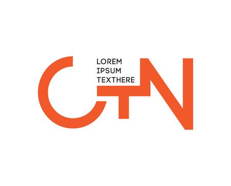 CTN 모노그램 개념 디자인입니다. AI 10 지원. 일러스트