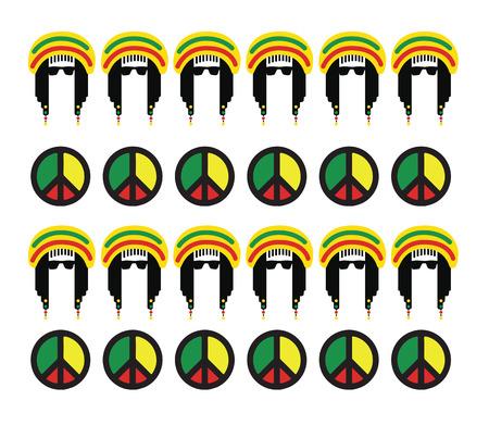 symbol of peace: Reggae Culture Concept Design. AI 10 Supported.