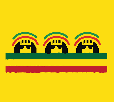bob: Reggae Culture Concept Design. AI 10 Supported.