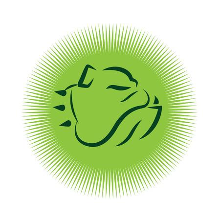 kampfhund: Bulldoggen-Maskottchen-Entwurf. AI 10 unterstützt. Illustration