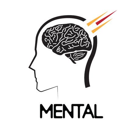 sensory receptor: Mental Concept Design. AI 10 supported. Illustration