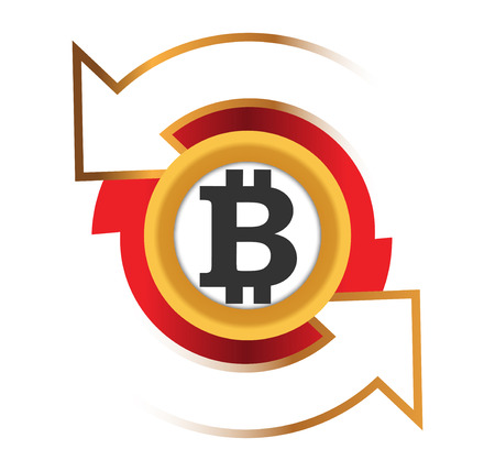 Icono Cambio de Bitcoin Ilustración de vector