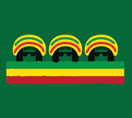 Reggae Culture Concept Design. AI 10 Supported.