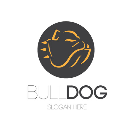 Bulldog Logo Design Concept. AI 10 Supported. Çizim