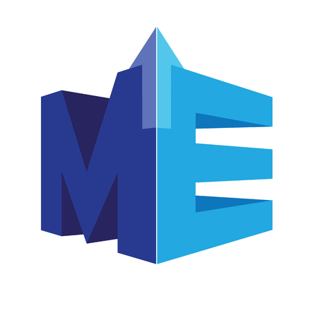 Geometric ME Logo Concept. AI 10 supported.