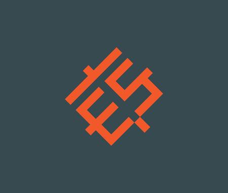 Design concept for ES letter. AI 10 supported. Vektoros illusztráció