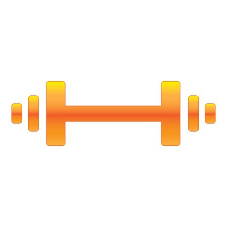 Barbell Icon Design, AI 10 Supported.
