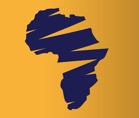Illustration of Africa Map