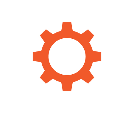 Gear icon design. AI 10 Supported.