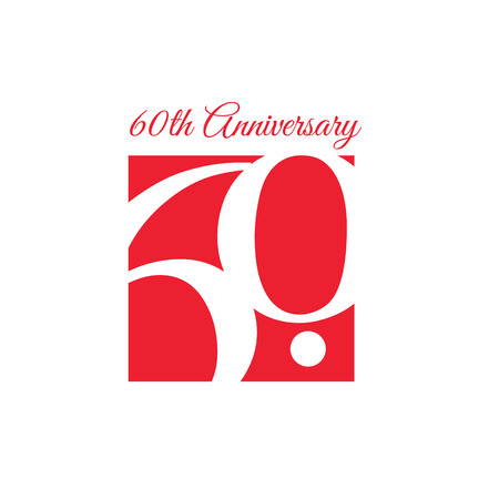 60th: 60th Anniversary Template design. Included high quality jpeg and EPS files.