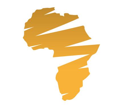 Illustration of Africa Map Ilustração Vetorial
