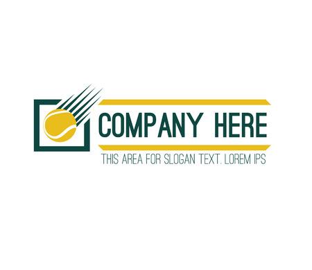 Projekt Logo Konkursu Tenis. AI 10 Obsługiwane.