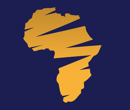 graphic art: Illustration of Africa Map