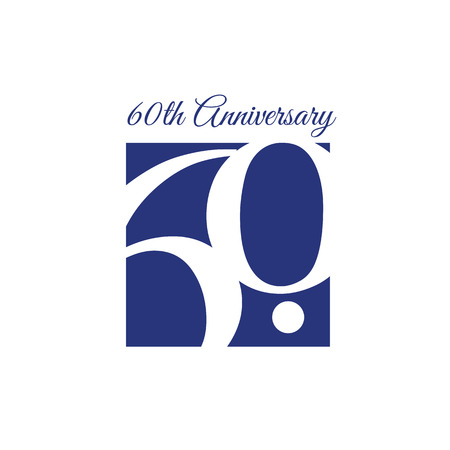60th Anniversary Template design. Included high quality jpeg and EPS files.
