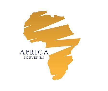 souvenirs: Africa Souvenirs with map.