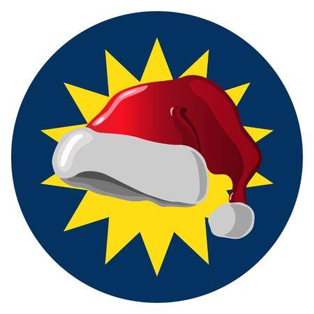 Santa Claus Hat Design Concept.