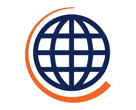 globus: Pictogram of World Map. Illustration