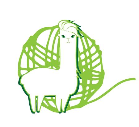 mohair: Lama and Lama Yarn Concept Design.