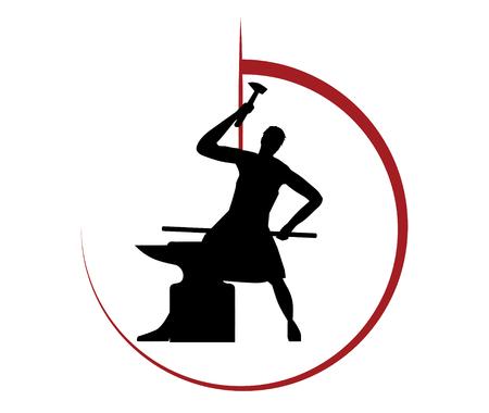 Blacksmith Concept Design Stock Illustratie