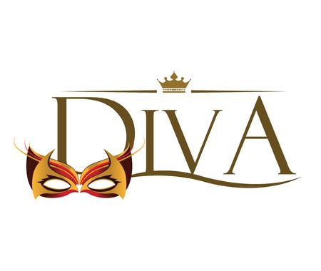 Diva with Masquerade Glasses.