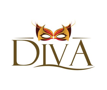 prom night: Diva with Masquerade Glasses.