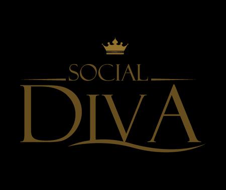 twit: Diva Design with Elegant Typography Style.