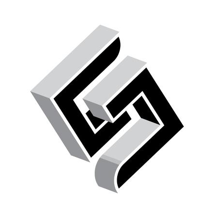 cs: concept design for S letter.