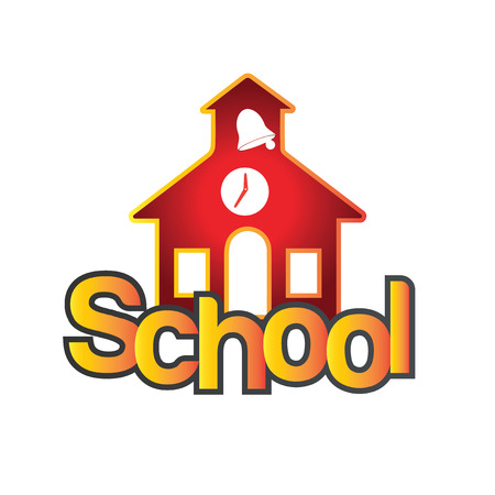 Time to School design concept. AI 10 Supported. Illustration