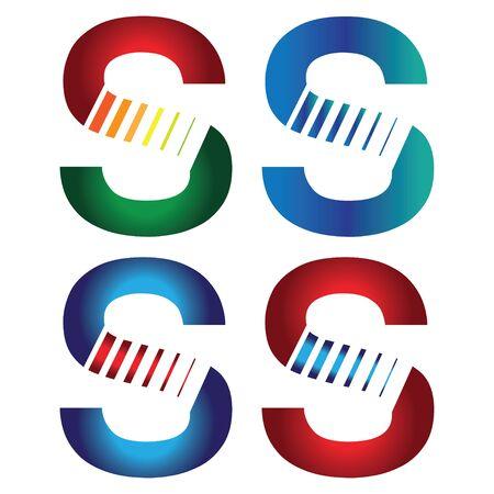 concept design for S letter. Vektoros illusztráció