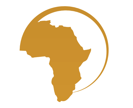 Ilustración del mapa de África