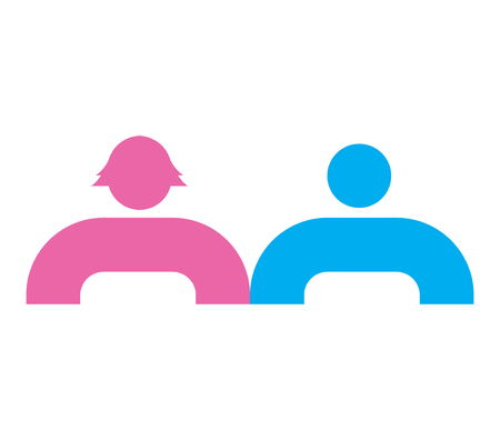 Relationships Icon Design, AI 8 supported. Illustration