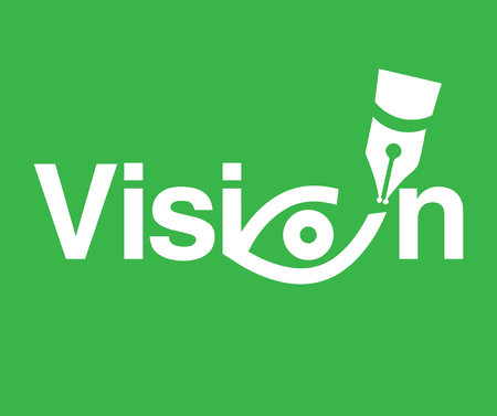 Vision Theme Concept. AI 8 supported. Illustration