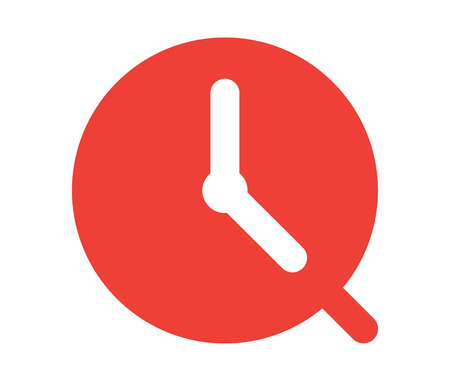 analogue: Clock Icon Design, AI 8 supported.