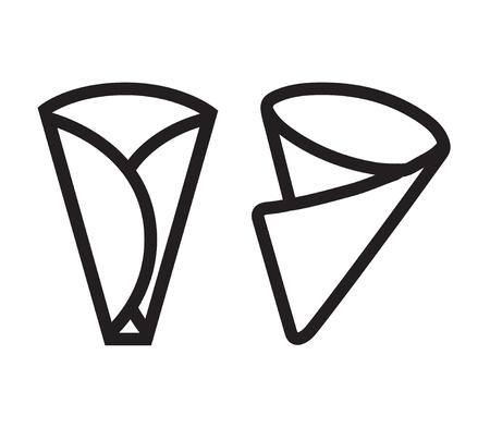 Crepe Icon Set Design, AI 8 supported.