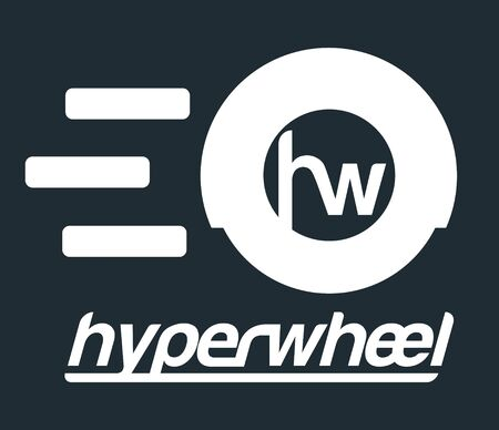 hyper: Hyper Wheel Logo Design, AI 8 supported.