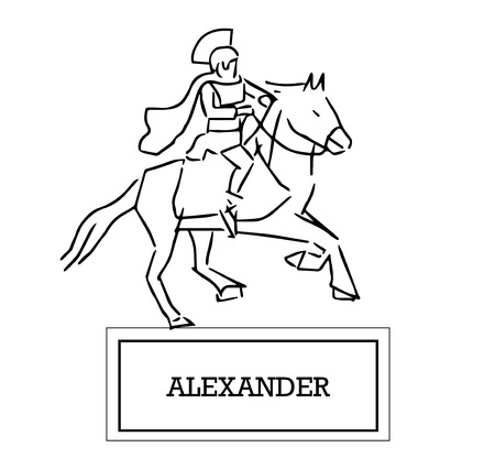 Illustration of Alexander Illustration