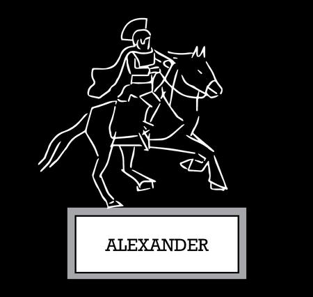 Illustration of Alexander Illustration