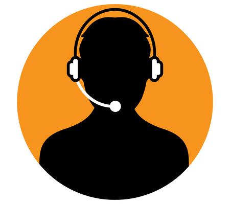 Call Center Man Icon Design