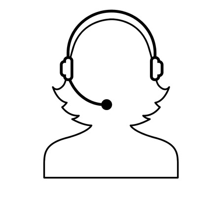 call center woman: Call Center Woman Icon Design