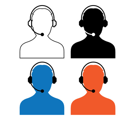 Call Center Icon Design Illustration