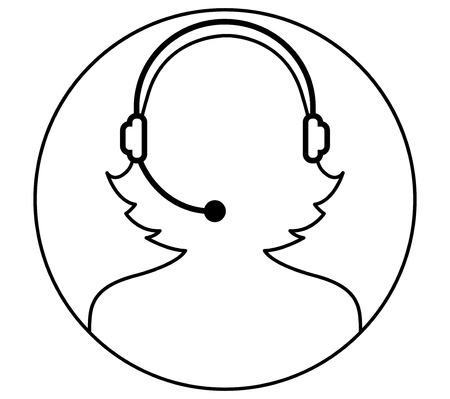 handsfree: Call Center Woman Icon Design