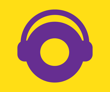 Music Concept Design with Headset.